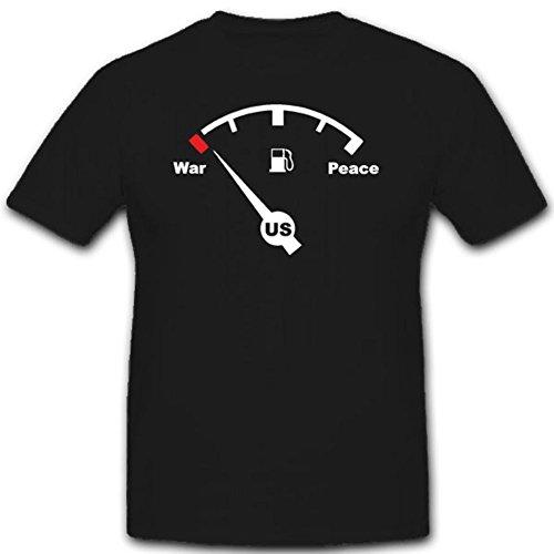 Irak-Konflikte Invansion Vereinigte Staaten Streitkräfte Sprittpreise - T Shirt #1993, Farbe:Schwarz, Größe:Herren 3XL