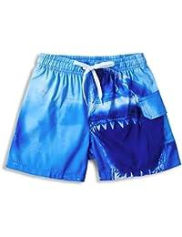 Vogseek Niños Bañadores Pantalones Cortos de Surf Trajes de baño Divertidos  Impresos en 3D Ropa de 8b2a09a46bb