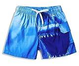 Vogseek Blue Shark Boy Sommer Badeshorts Strand Badehose 4-10 Jahre