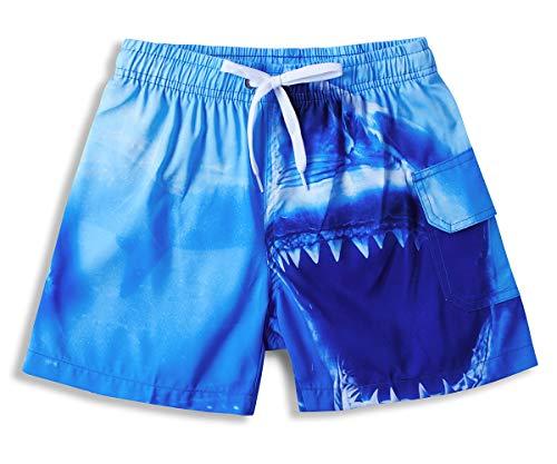 Vogseek Badehose Jungen schnell trocknend Badehose Shark Druck Surfen Strand Casual Shorts 10 Jahre Kinder