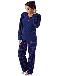 ... Sets   Indigo Sky. Ladies Geometric Print Warm Supersoft Fleece Pyjama  Geo Navy or Navy Check fffdbf87e