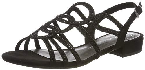 MARCO TOZZI 2-2-28109-22, Sandali con Cinturino alla Caviglia Donna, Nero (Black 001), 37 EU