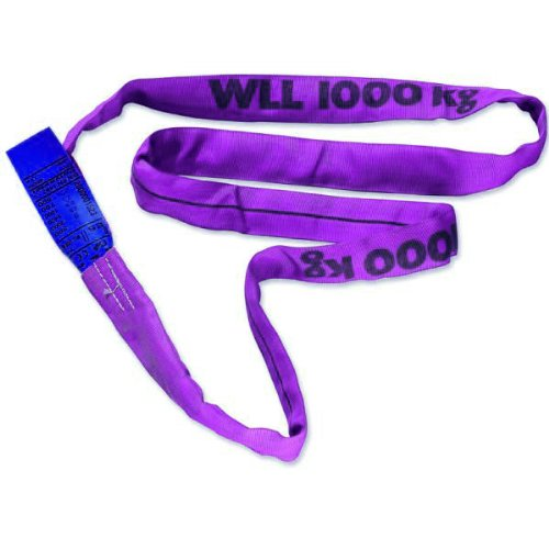 Braun 10041RS Rundschlinge 1000 kg Tragkraft, 4 m Umfang, endlos mit Polyesterkern, violett