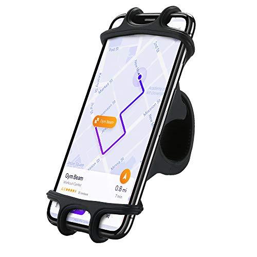 Handyhalterung Fahrrad, FLOVEME Universal Handy Halterung Lenker 360° Drehbare Fahrrad Handyhalterung für iPhone X/8/7/6/6s Plus, Samsung Galaxy S8 / S7 Edge / S7 / S6, LG G5 / G4, usw, Schwarz Edge 8