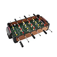 Mini table football, table football machine, table football, 51 cm 6-pole table football table, mini wooden chip football machine, product size: 51X40X9cm