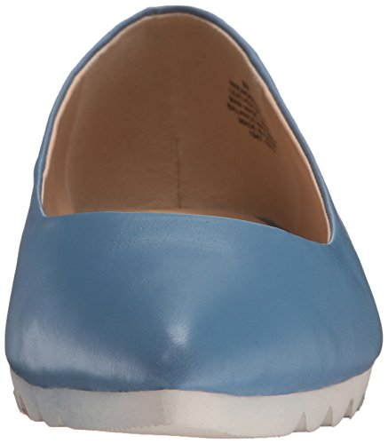 Nine West Ballet en cuir plat en cours blue