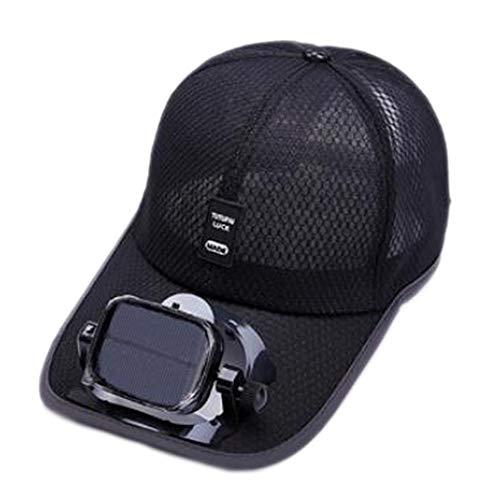 Solar-cool Cap (ANHPI Gebläsekühlung Baseball Hut Cap Solar USB Dual-Aufladung draussen Schatten Sonnenschutzmittel Sportreisehut, 5 Farben (Color : #1, Size : Head Circumference (56-62cm)))