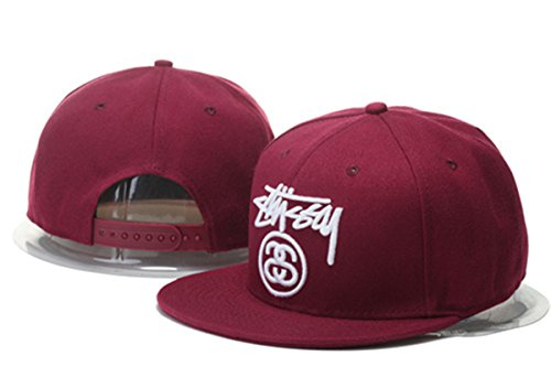 Stussy Classic Comfort Snapback Hat Adjustable Fashion Cap Red One Size