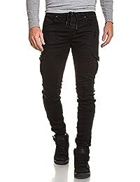 Gov Denim - Jogger pant noir homme à poches