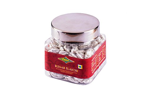 Dizzle Silver Coated Mouth Freshener Kesar Ilaichi, 60 g