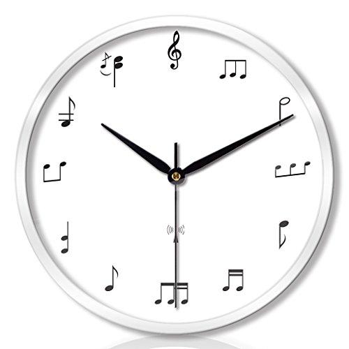 ZML Horloge Murale, Radio-commandé, Non-coutil, Rond, Salle de séjour