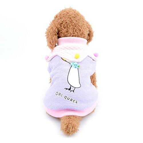 Hawaii Hochzeit Shirts (smalllee _ Lucky _ store Swan Muster Warm Hund Bekleidung Hund Katze Fleece gefüttert Shirt T-Shirts Chihuahua Sweatshirt Pitbull Winter Tank Top Stylisch kaltem Wetter Weste)