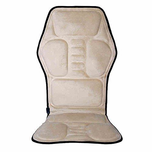 FEI Meilleur massage à la maison Accueil Double usage Massage Coussin Massage Chauffage Cou Col Dos Col Epaule Taille Full Dody utilisation pratique (Couleur : Beige(flannel))