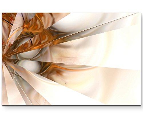 Abstraktes Bild – weiß, bronze, Spiegeleffekte