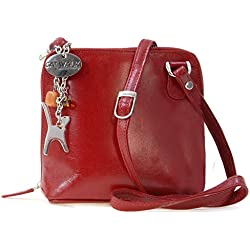 CATWALK COLLECTION - LENA - Bolso bandolera - Cuero - Rojo