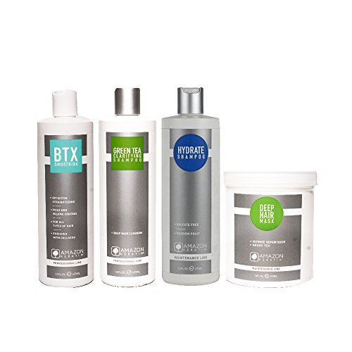 Amazon Keratin BTX Smoothing Treatment Kit - Set Of 4 (Medium)