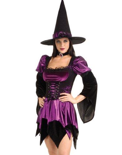 Sexy Hexe Halloween Sexy Erwachsene Damen Kostüm - Mehrfarbig, Damen, (Kostüme Hexe Sexy Erwachsene)