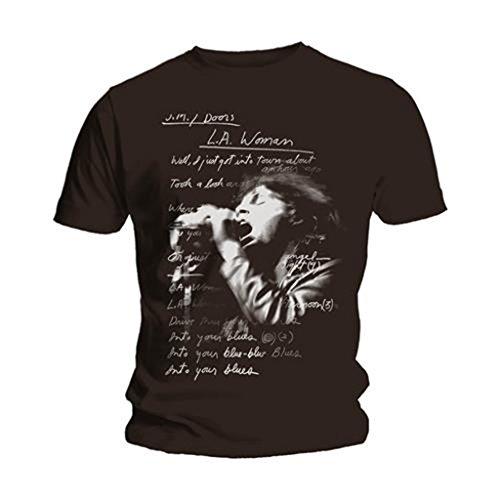 The Doors LA Woman Lyrics Jim Morrison Rock ufficiale Uomo maglietta unisex (Medium)