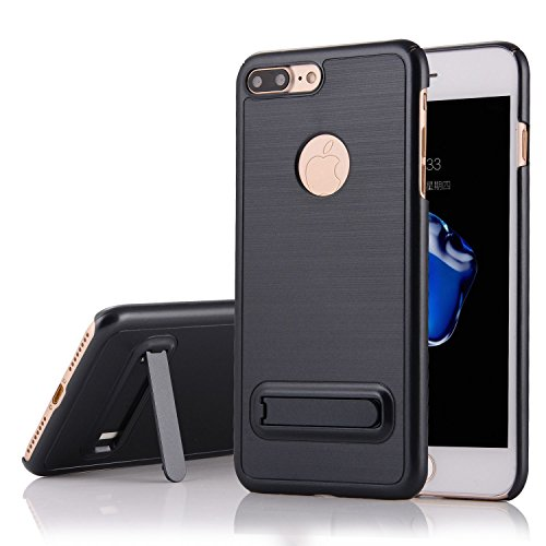 """HYAIT® For IPHONE 7 PLUS 5.5"""" Case[Brushed][Shockproof] Dual Layer Hybrid Armor Rugged Plastic Hard Shell Flexible TPU Bumper Protective Cover-LASIE03 BHE02"""