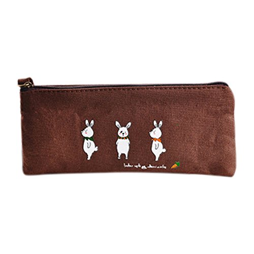 Handtaschen Schätze Kleine (fablcrew des Stylus Handtasche Leinwand Tasche Feder-der Tasche 19* 8.5cm 19x8.5cm braun)