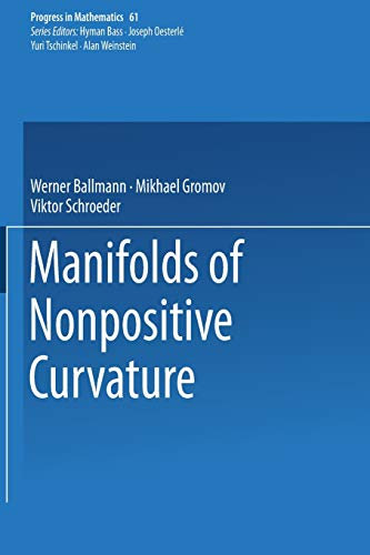 Manifolds of Nonpositive Curvature (Progress in Mathematics, Band 61)