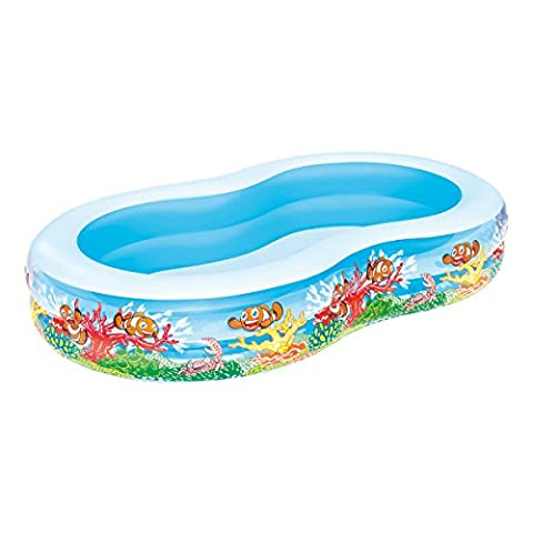 Bestway Planschbecken Clownfish Lagoon Family Pool, 262x157x46