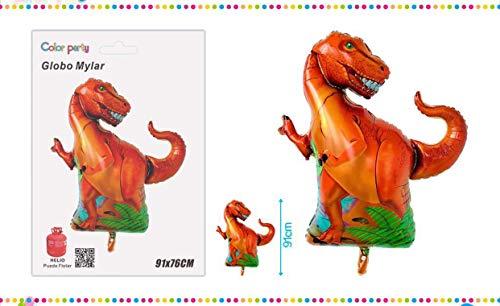 Party Hogar Globo Dinosaurio 91cm, Apto para Helio