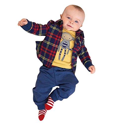 Culater® neonato BO YP a cappotto pantaloni camicie vestiti serie di abiti (70)
