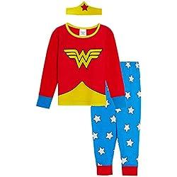 DC Comics Pijama niñas con diseño de Wonder Woman Rosso 4-5 Años