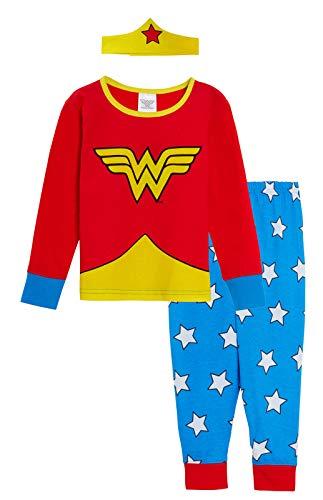 DC Comics Pijama niñas diseño Wonder Woman Rosso