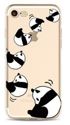 Cover Panda Per iPhone 7 4.7,Hippolo TPU Gel Silicone Protettivo Skin Custodia Protettiva Shell Case Cover Per iPhone 7 4.7 (Per iPhone 7 4.7, p-3) p-5