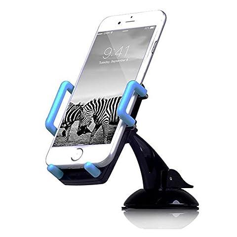 Alaix support voiture, support universel pour tableau de bord pare-brise support voiture smartphone pour 3.5–15,2cm téléphone portable