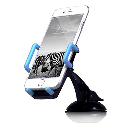 ALAIX Windschutzscheibe, Armaturenbrett Kfz-Halterung mit superstarkem Saugkraft für Smart-Handys und Mobilgeräte-Blau