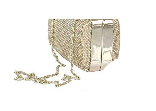 Bag Ladies Cena Signore Bottone In Metallo Borsa Cellulare Trousse Gold