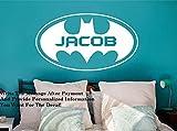 stickers muraux pour chambre b stickers muraux fille en 3 Nom personnalisé Batman pour chambre d'enfant ou chambre d'enfant