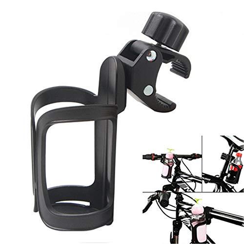 HOTFIT Flaschenhalter Fahrrad, 360 Grad Rotation Getränkehalter Fahrrad Trinkflaschenhalterung für Fahrrad Mountainbikes Kinderwagen und Rollstuhl (Schwarz)