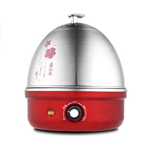 nxze-O Egg Boiler, 1-7 Huevos, Acero Inoxidable Hervido Negro, Acero Inoxidable Egg...