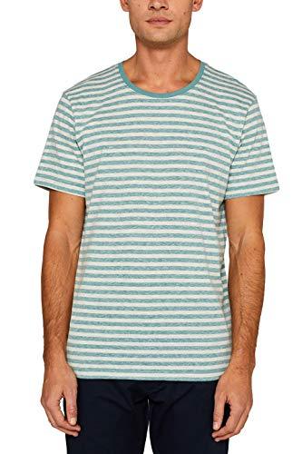 edc by ESPRIT Herren 029CC2K036 T-Shirt, Grün (Dusty Green 335), (Herstellergröße: XX-Large) (Pocket T-shirts Für Männer)