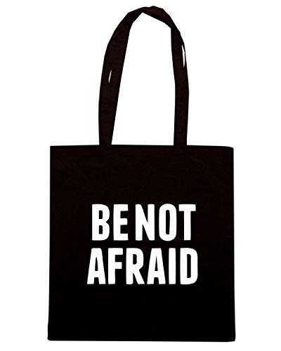 T-Shirtshock - Borsa Shopping CIT0046 Be Not Afraid Nero