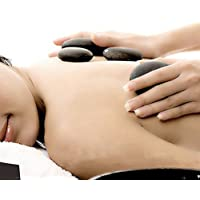 Hot Stones Massage Set, 7 basalto massaggio pietre, Passato prossimo ideale di Natale / regali / Stocking Filler ideale regalo per il giardiniere, Nero (S)