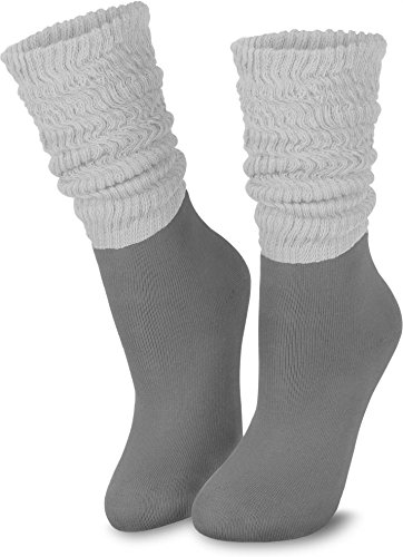 2-Paar-normani-Casual-Couch-Wellness-und-Workout-Slouch-Homewear-Socken-fr-Damen-Farbe-Grau-Gre-3942