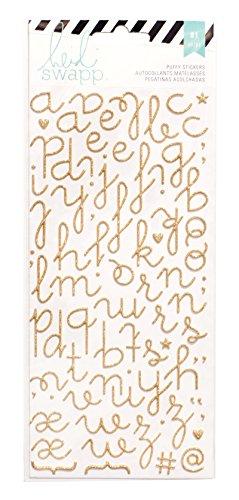 American Crafts Heidi Swapp 10268595Schablone zum Specialty Aufkleber Puffy Alphabet/Gold Glitzer, Acryl, Mehrfarbig - Heidi Swapp-alphabet