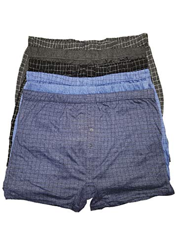 6 Pairs Mens Cotton Rich Boxers 4XL
