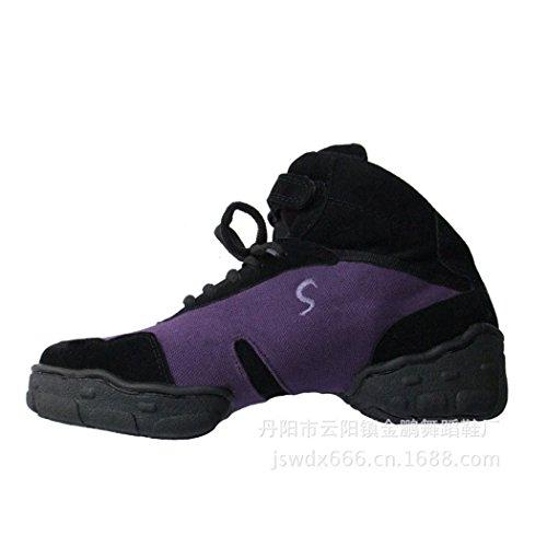 ZQ@QXAutunno Gao Bang canvas traspirante morbidi e confortevoli scarpe da ballo Violet