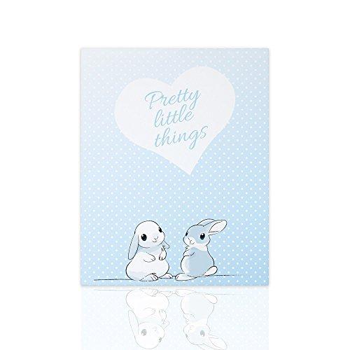 Declea Rahmen auf Leinwand für Babyzimmer Bunny Polka Dot Illustration Tiere bereit zum Aufhängen Schlafzimmer Dekoration Nurse Decor Room Möbel Kids Art Design Kids