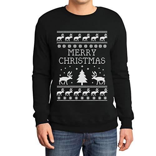 Frohe Weihnachten Rentier Weihnachtsbaum Winter Sweatshirt XX-Large Schwarz