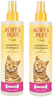 Burt's Bees For Cats Natural Waterless Shampoo with Apple and Honey | Cat Waterless Shampoo S