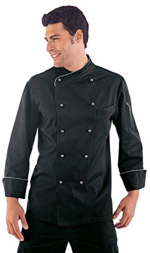 Isacco - Veste Chef Cuisinier Lima Noir Blanc