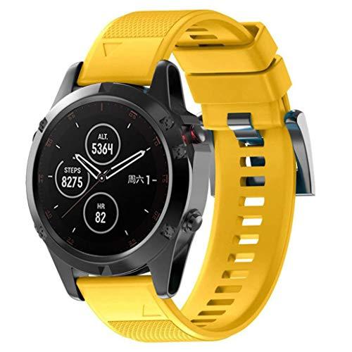 Bestow Garmin Fenix 5 Plus Silicagel Soft Band de Repuesto Quick Install  Banda de Banda Reloj a9b2954de452