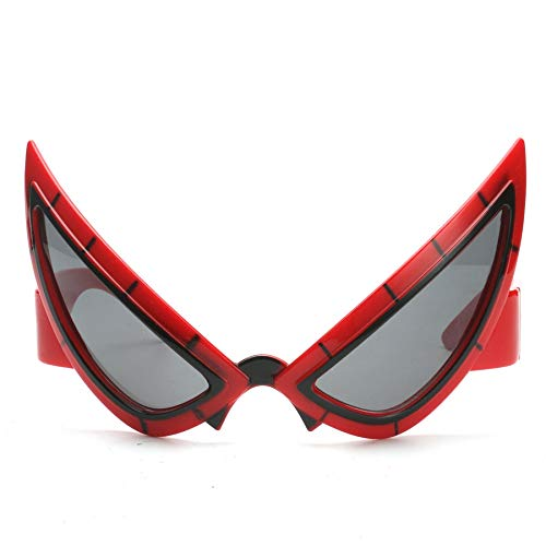WWVAVA Party Brille Coole Spiderman kostüm Maske lustige Cosplay super Hero Spielzeug gläser Halloween Photo Booth Requisiten Geburtstagsparty Dekorationen für Kinder, rot